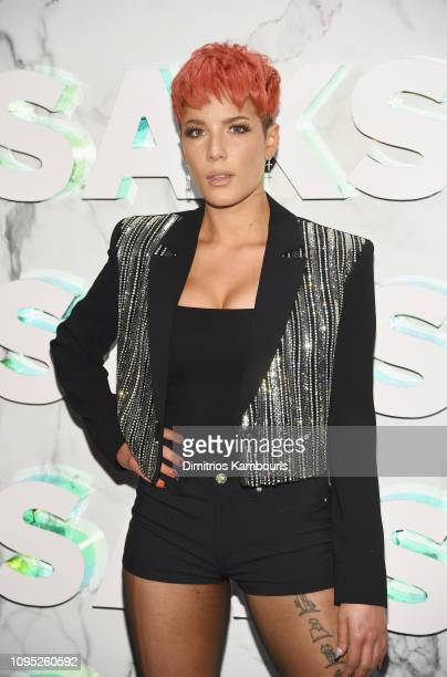 Halsey attends as Saks celebrates new main floor with Lupita Nyong'o Carine Roitfeld and Musical performance by Halsey on February 7 2019 at Saks...