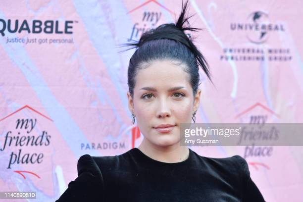 "Halsey attends ""Ending Youth Homelessness: A Benefit For My Friend's Place"" Gala at Hollywood Palladium on April 06, 2019 in Los Angeles, California."
