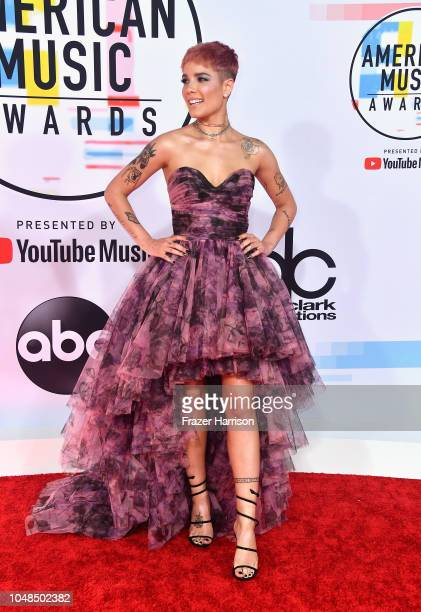 Halsey attends the 2018 American Music Awards at Microsoft Theater on October 9 2018 in Los Angeles California