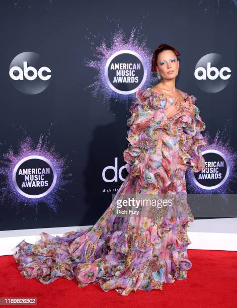 Halsey attends the 2019 American Music Awards at Microsoft Theater on November 24 2019 in Los Angeles California