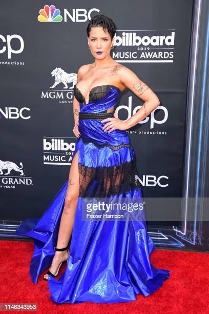 Halsey attends the 2019 Billboard Music Awards at MGM Grand Garden Arena on May 01 2019 in Las Vegas Nevada