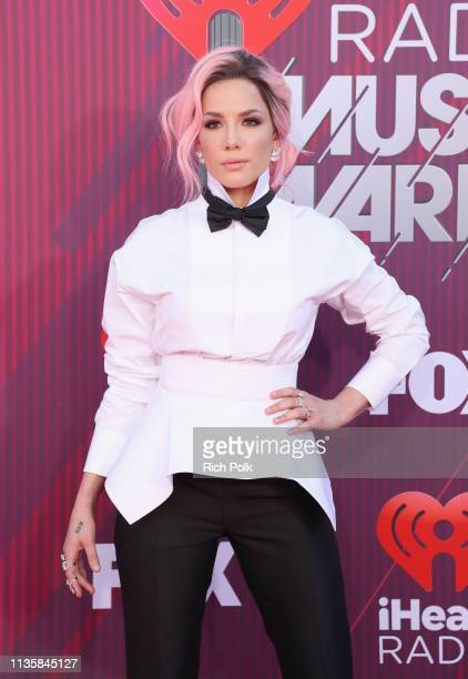 Halsey attends the 2019 iHeartRadio Music Awards which broadcasted live on FOX at Microsoft Theater on March 14, 2019 in Los Angeles, California.