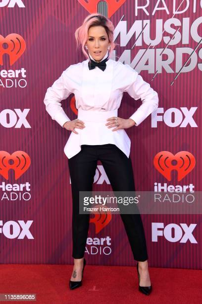 Halsey attends the 2019 iHeartRadio Music Awards which broadcasted live on FOX at Microsoft Theater on March 14 2019 in Los Angeles California