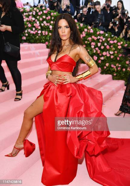 Halsey attends The 2019 Met Gala Celebrating Camp: Notes on Fashion at Metropolitan Museum of Art on May 06, 2019 in New York City.
