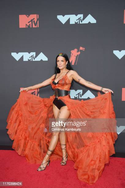 Halsey attends the 2019 MTV Video Music Awards at Prudential Center on August 26, 2019 in Newark, New Jersey.