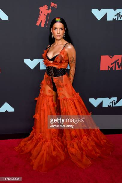 Halsey attends the 2019 MTV Video Music Awards at Prudential Center on August 26 2019 in Newark New Jersey