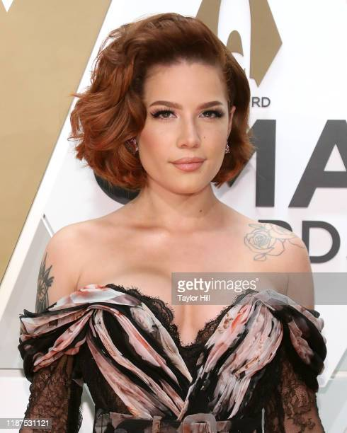 Halsey attends the 53nd annual CMA Awards at Bridgestone Arena on November 13 2019 in Nashville Tennessee