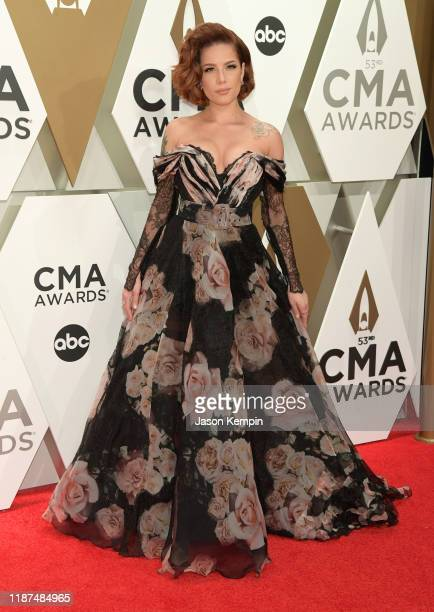 Halsey attends the 53rd annual CMA Awards at the Music City Center on November 13 2019 in Nashville Tennessee