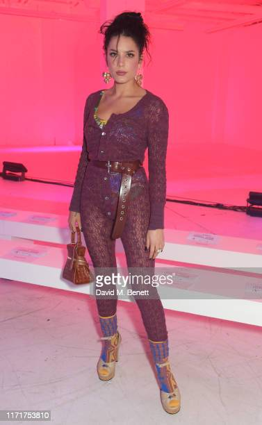 Halsey attends the Andreas Kronthaler For Vivienne Westwood Womenswear Spring/Summer 2020 show as part of Paris Fashion Week on September 28 2019 in...