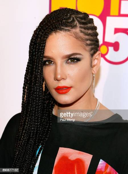 Halsey attends the Hot 995 iHeartRadio Jingle Ball 2017 at Capital One Arena on December 11 2017 in Washington DC