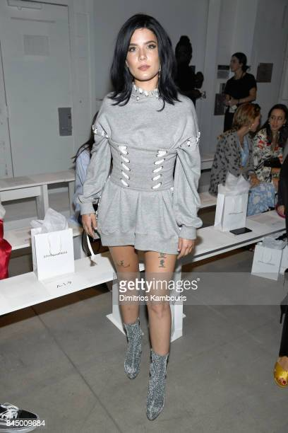 Halsey attends the Jonathan Simkhai fashion show during New York Fashion Week The Shows at Gallery 1 Skylight Clarkson Sq on September 9 2017 in New...