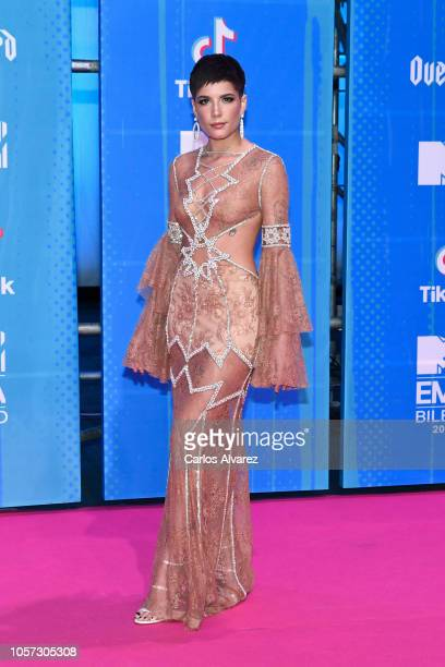 Halsey attends the MTV EMAs 2018 at Bilbao Exhibition Centre on November 4 2018 in Bilbao Spain