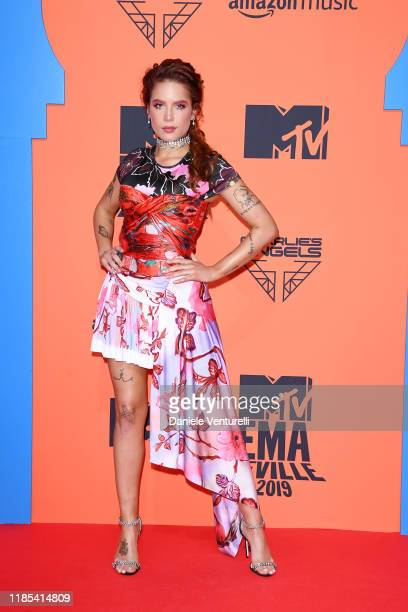 Halsey attends the MTV EMAs 2019 at FIBES Conference and Exhibition Centre on November 03 2019 in Seville Spain