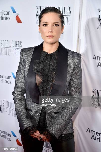 Halsey attends the Songwriters Hall Of Fame 50th Annual Induction And Awards Dinner at The New York Marriott Marquis on June 13, 2019 in New York...