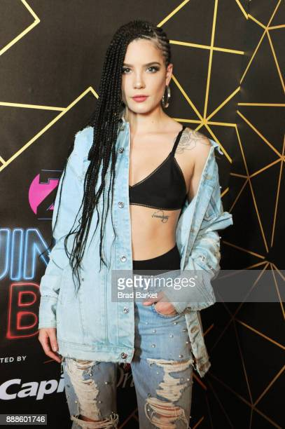 Halsey attends the Z100's Jingle Ball 2017 backstage on December 8 2017 in New York City