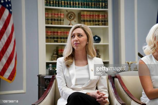 LIVE 'Halsey' Episode 1758 Pictured Heidi Gardner as Abigail Spanberger during the 'Women of Congress' sketch on Saturday February 9 2019