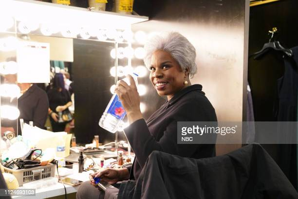 LIVE Halsey Episode 1758 Pictured Leslie Jones as Donna Brazile backstage at Studio 8H on Saturday February 9 2019