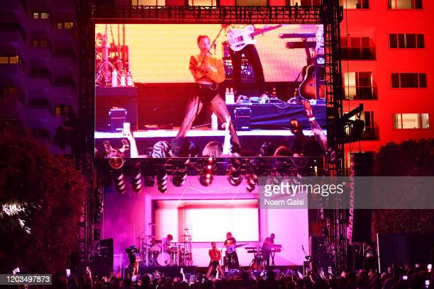 Halsey performs at Night Two of BUDX Miami by Budweiser on February 02 2020 in Miami Beach Florida