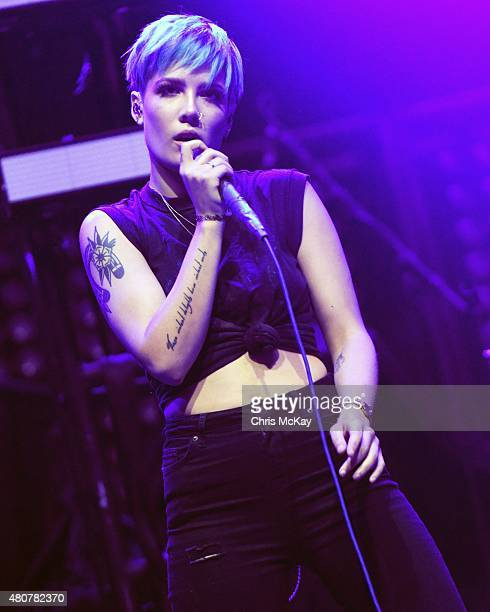 Halsey performs at Philips Arena on July 14 2015 in Atlanta Georgia