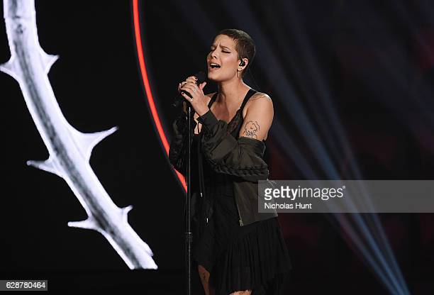 Halsey performs at the Billboard Women in Music 2016 event on December 9 2016 in New York City