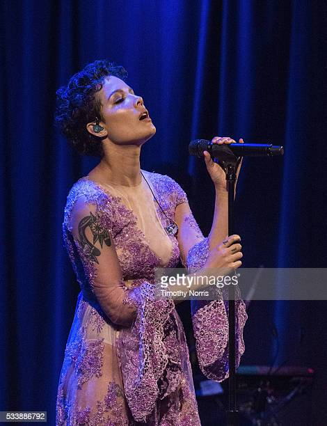 Halsey performs at The GRAMMY Museum on May 23 2016 in Los Angeles California