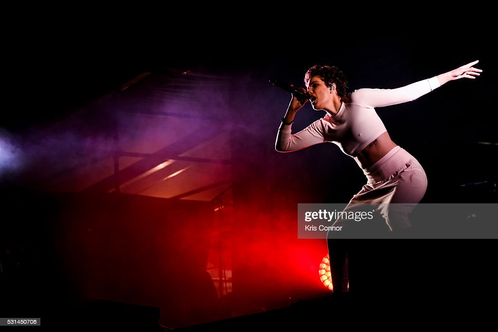 Halsey performs during 2016 Sweetlife Festival at Merriweather Post Pavillon on May 14, 2016 in Columbia, Md.