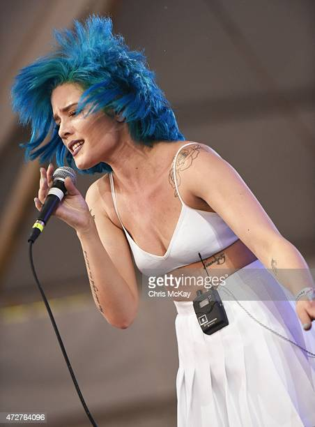 Halsey performs during day 1 of the 3rd Annual Shaky Knees Music Festival at Atlanta Central Park on May 8 2015 in Atlanta City