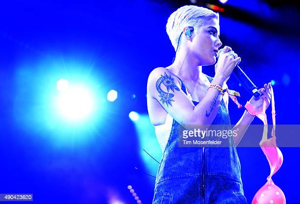 Halsey performs during the 2015 Life is Beautiful festival on September 27 2015 in Las Vegas Nevada