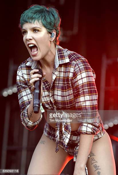 Halsey performs during the 2016 Bonnaroo Music Arts Festival on June 10 2016 in Manchester Tennessee