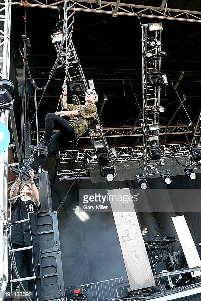 Halsey performs in concert on day 3 during week 1 of the Austin City Limits Music Festival at Zilker Park on October 4 2015 in Austin Texas