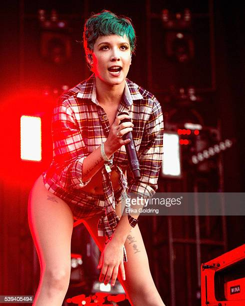 Halsey performs on June 10 2016 in Manchester Tennessee