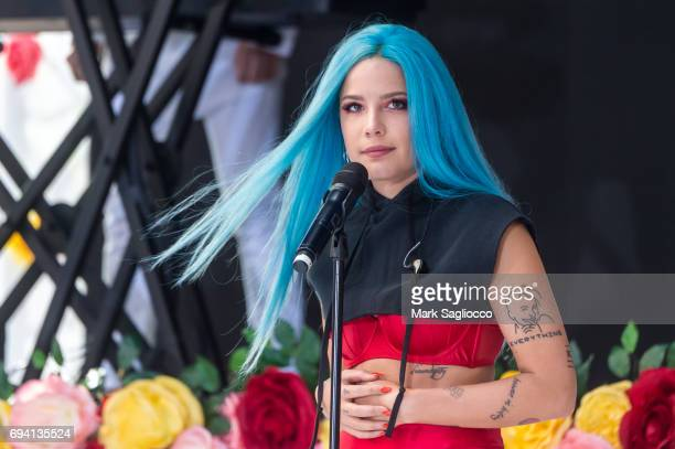 Halsey Performs on NBC's 'Today' at Rockefeller Plaza on June 9 2017 in New York City