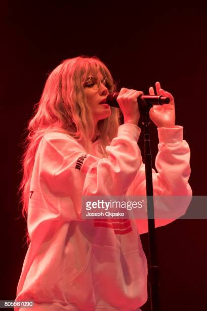 Halsey performs on stage at Roskilde Festival on July 1 2017 in Roskilde Denmark