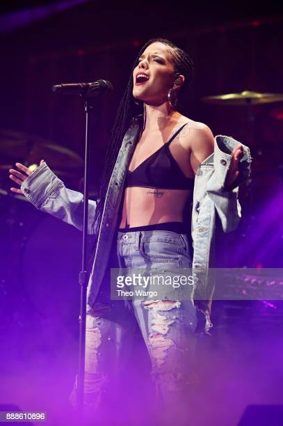 Halsey performs onstage at the Z100's Jingle Ball 2017 on December 8 2017 in New York City