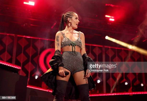 Halsey performs onstage during 1027 KIIS FM's Jingle Ball 2017 presented by Capital One at The Forum on December 1 2017 in Inglewood California
