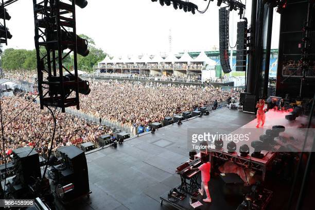 Halsey performs onstage during Day 2 of 2018 Governors Ball Music Festival at Randall's Island on June 2 2018 in New York City