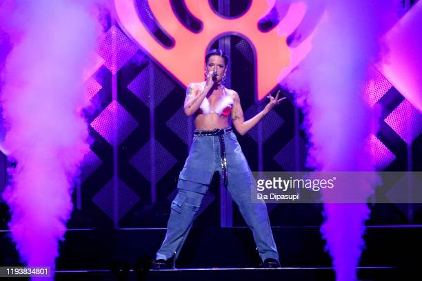 Halsey performs onstage during iHeartRadio's Z100 Jingle Ball 2019 Presented By Capital One on December 13 2019 in New York City
