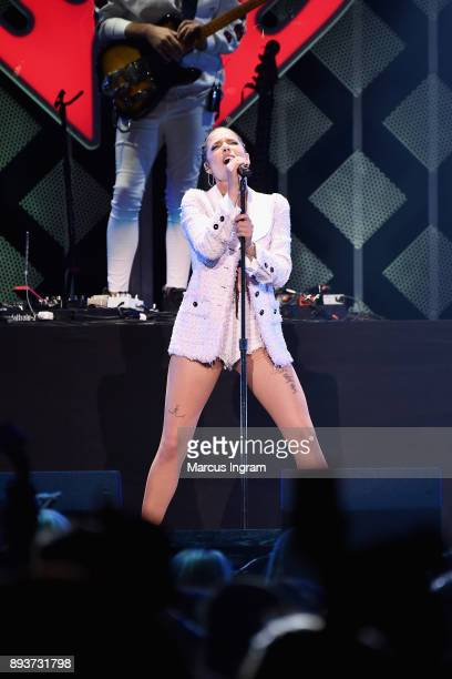 Halsey performs onstage during Power 961's Jingle Ball 2017 Presented by Capital One at Philips Arena on December 15 2017 in Atlanta Georgia