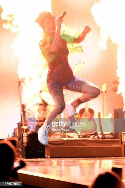 Halsey performs onstage during the 2019 iHeartRadio Music Festival at T-Mobile Arena on September 20, 2019 in Las Vegas, Nevada.