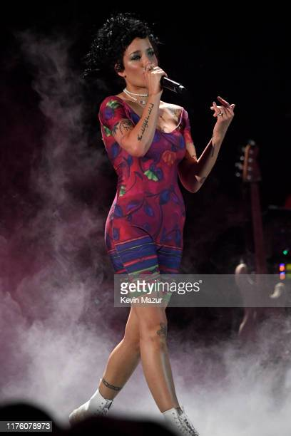 Halsey performs onstage during the 2019 iHeartRadio Music Festival at TMobile Arena on September 20 2019 in Las Vegas Nevada
