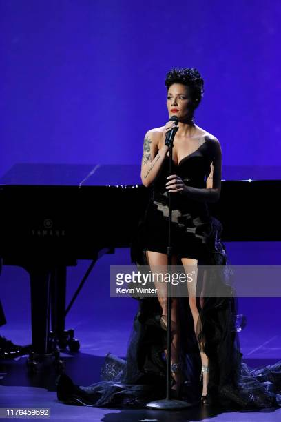 Halsey performs onstage during the 71st Emmy Awards at Microsoft Theater on September 22, 2019 in Los Angeles, California.