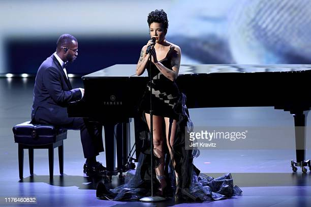 Halsey performs onstage during the 71st Emmy Awards at Microsoft Theater on September 22 2019 in Los Angeles California