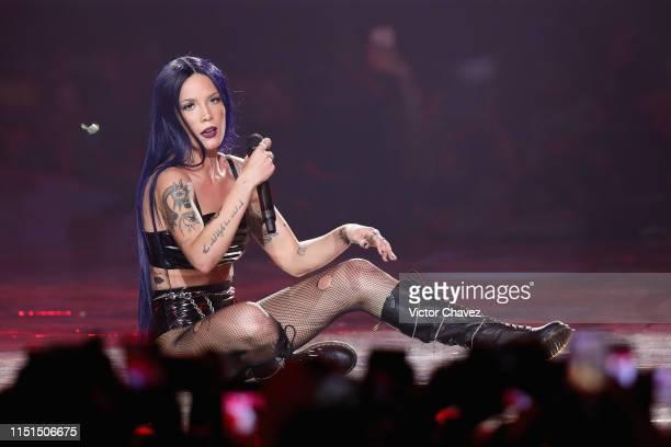 Halsey performs onstage during the MTV MIAW Awards 2019 at Palacio de los Deportes on June 21 2019 in Mexico City Mexico