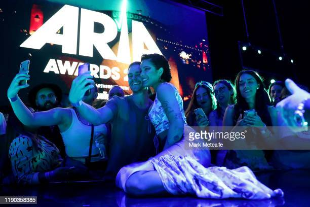 Halsey poses with fans during the 33rd Annual ARIA Awards 2019 at The Star on November 27 2019 in Sydney Australia