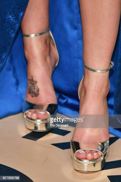 Halsey shoe detail attends the 2018 Vanity Fair Oscar Party hosted by Radhika Jones at Wallis Annenberg Center for the Performing Arts on March 4...