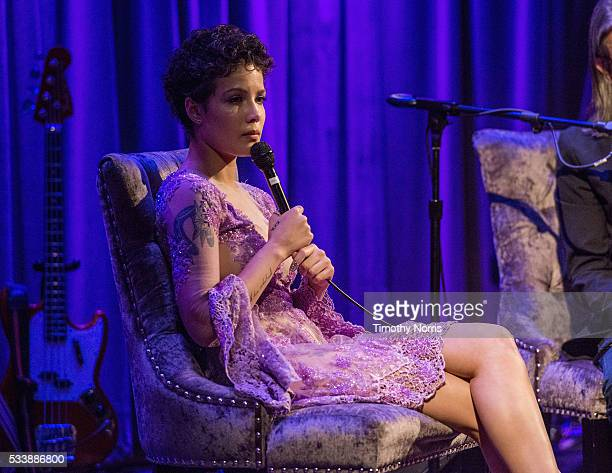 Halsey speaks at The GRAMMY Museum on May 23 2016 in Los Angeles California
