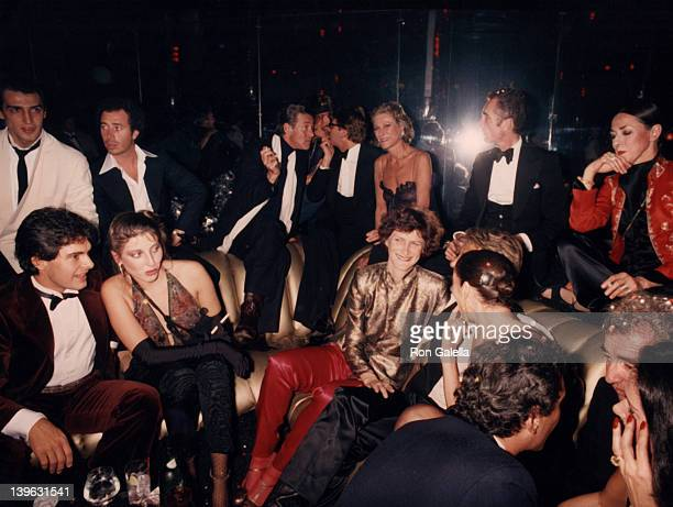 Halston attends Opium Perfume Launch Party on September 20 1978 at Studio 54 in New York City
