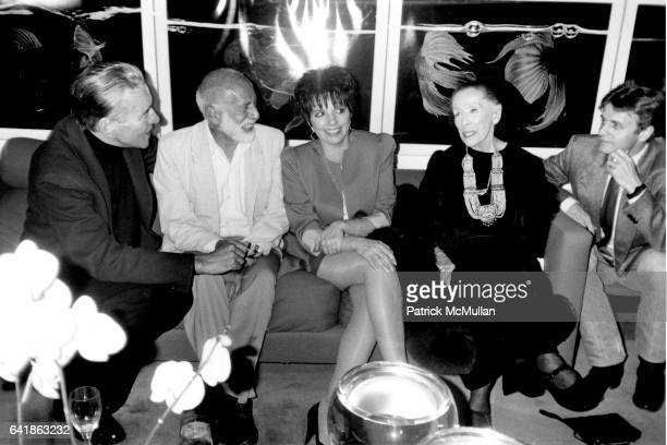 Halston Jerry Robbins Liza Minnelli Martha Graham and Mikhail Baryshnikov at the Benefit for the Martha Graham School of Contemporary Dance at...