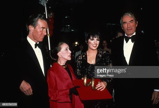 Halston Martha Graham Liza Minnelli and Gregory Peck circa 1980s in New York City