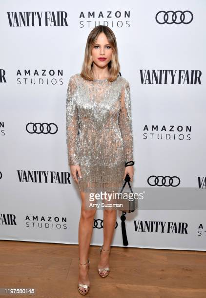 Halston Sage attends The Vanity Fair x Amazon Studios 2020 Awards Season Celebration at San Vicente Bungalows on January 04, 2020 in West Hollywood,...
